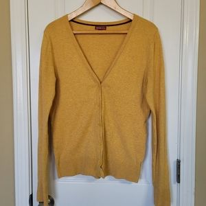Merona Mustard Yellow Cardigan
